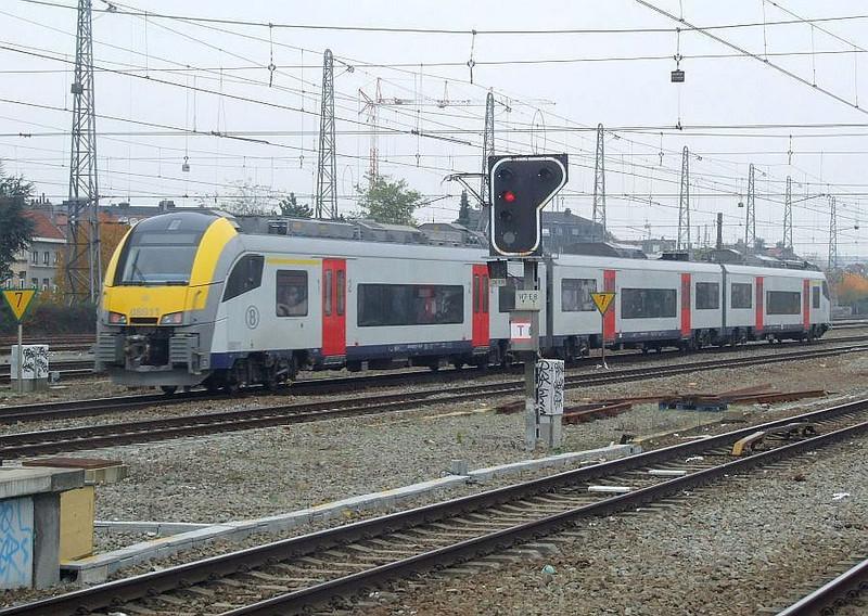 SNCB 08011 at Brussel Noord, 15th November 2012.
