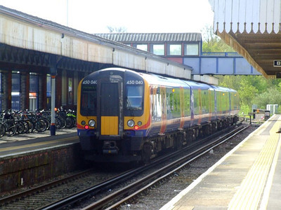 SWT 450 040 at Fareham with a Portsmouth service on 15th May 2012.