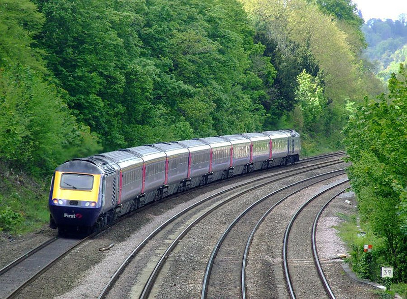 FGW HST with 43150 leading, Tilehurst. 15th May 2012.