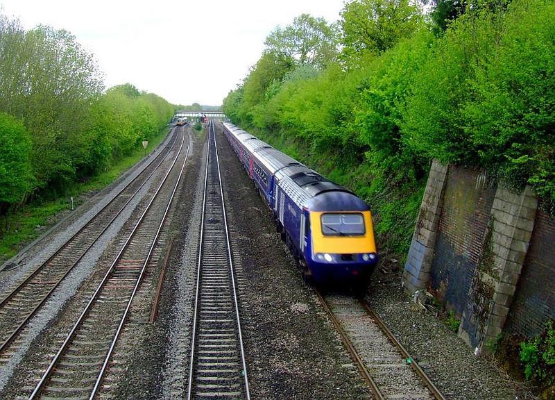 FGW HST, 166 216 (at station), Tilehurst. 15th May 2012.