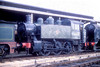 SR USA Class 0-6-0T 30064 at Sheffield Park shed on on 20th April 1992.