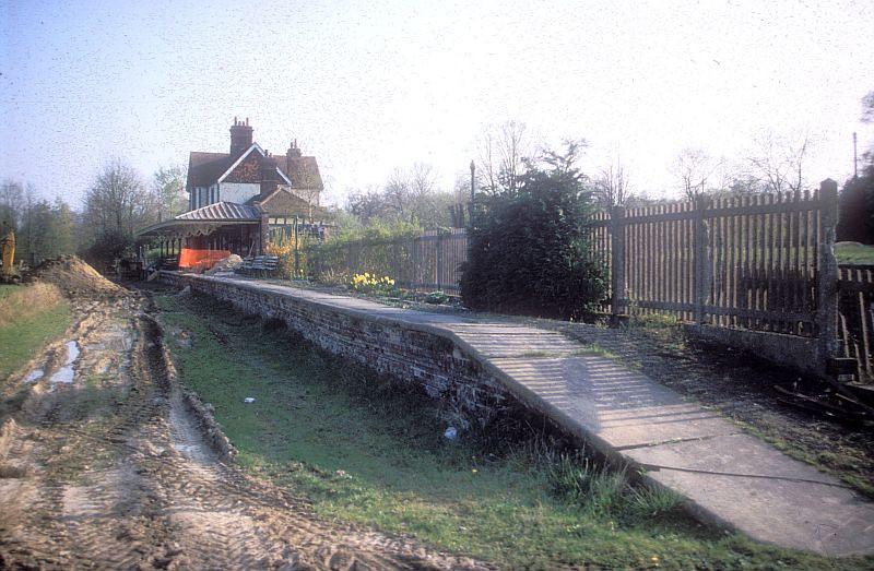 Kingscote station on 20th April 1992.