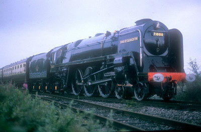 """BR Standard Class 8P Pacific 71000 """"Duke of Gloucester"""" in action at Didcot GWS on 16th July 1988."""