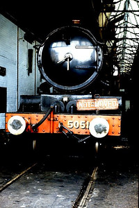 "'Castle' Class 4-6-0 5051 ""Drysllwyn Castle""/""Earl Bathurst"" at Didcot GWS on 16th July 1988."