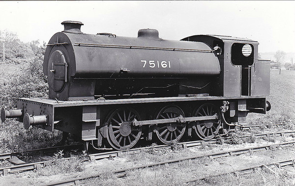 75161 - WD 'Austerity' Class 0-6-0ST - built 1944 by WG Bagnall & Co., Works No.2749, as WD No.75161 - sold to NCB, Backworth Colliery as No.6 - preserved at Caledonian Railway - seen here still wearing WD number.
