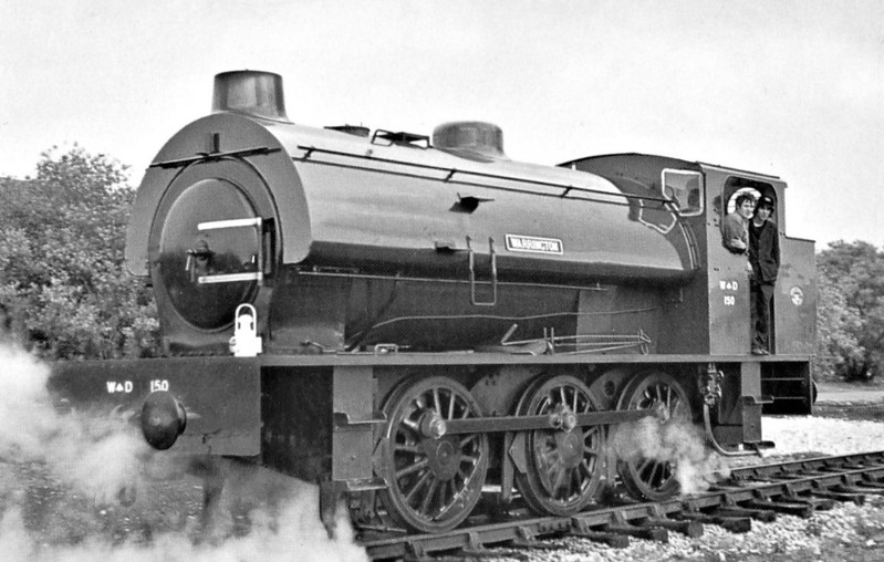 75196 - AUSTERITY Class 0-6-0ST - built 1944 by Robert Stephenson & Hawthorn Ltd., Works No.7136 - 1951 to WD No.150 - 1955 named ROYALPIONEER, 1956 name removed - 1963 sold to Hunslet Engine Co., rebuilt, Works No.3892/69 - sold to Bahamas Locomotive Society - preserved.