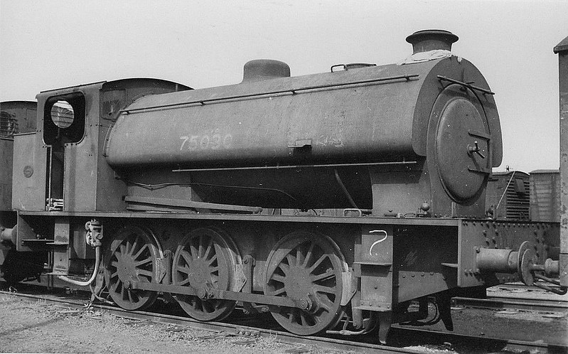 75030 - Austerity 0-6-0ST - built 1943 by Hunslet Engine Co., Works No.2879 - seen here at Central Armaments Depot, Kineton, 1946.