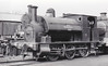 010 WOOLMER - 0-6-0ST - built 1910 by Avonside Engine Co., Works No.1572 - 1966 plinthed at Longmoor - preserved by NRM, on display at Milestones Museum, Basingstoke - seen here at Longmoor in April 1954.