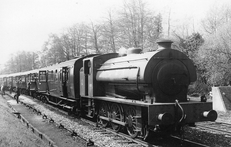 195 - WD 'Austerity' 0-6-0ST - built 1953 by Hunslet Engine Co., Works No.3795 - seen here on the RCTS Longmoor Rail Tour on April 16th, 1966.