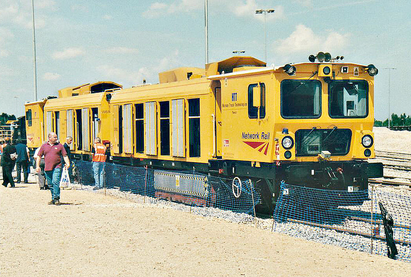 ( 93) - Whitemoor Open Day, May 25th, 2004 - Network Rail railgrinding train on display.