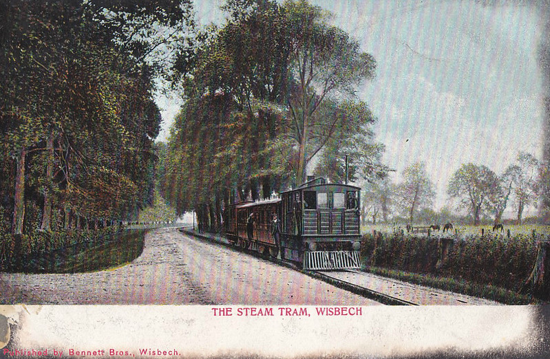 131 - Worsdell GER Class Y6 -4-0T - built 1883 by Stratford Works  - 1907 withdrawn - seen here at Emneth passing the Reverend Awdry's house - this is a hand-coloured version of the other card.
