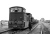 Class 04 - 11102 - Drewry 0-6-0 DM Shunter - built 06/52 by Drewry & Co.  - 01/58 to D2202 - withdrawn 02/68 withdrawn from Crewe Works - this was a 31B loco from new to September 1966 - seen here 'suited and booted' at Upwell Depot on the Tramway leg of the 'Fensman No.2' Rail Tour on September 9th, 1956.