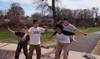 skateboarders dance