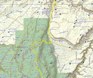 On part le matin TRES tôt de Grand Canyon North Rim lodge, et passons par la House Rock Valley  road