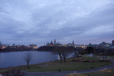 A view of Parliament from the Quebec side.