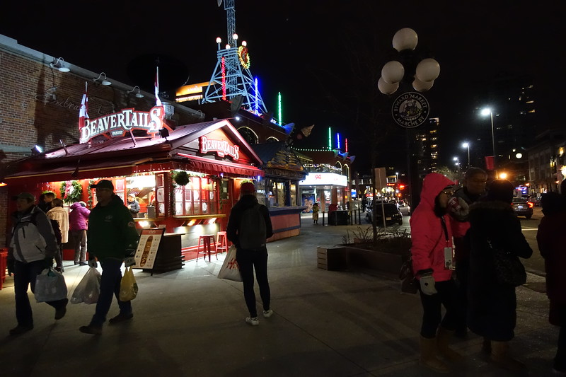 Last time in Ottawa we passed up the opportunity to purchase a BeaverTail.  Well tonight Sharon is rectifying that blunder.