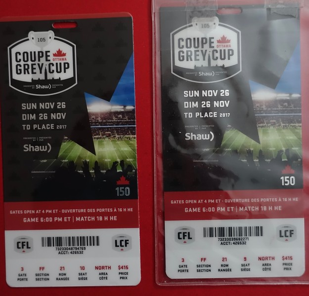 They arrived in the mail today, and in 21 days Carl and I will be cashing them in for The Game.