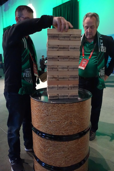 The purpose of this demonstration is to build a tower of blocks and then remove one at a time while keeping the structure sound.