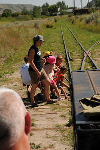 In railroad terms, a rail switch is referred to as a frog.  On hills or curves, the switch is called a dangerous frog.