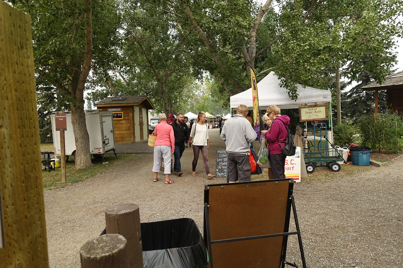 We'll spend some time here at the market in Cochrane and then head over to the fair grounds.