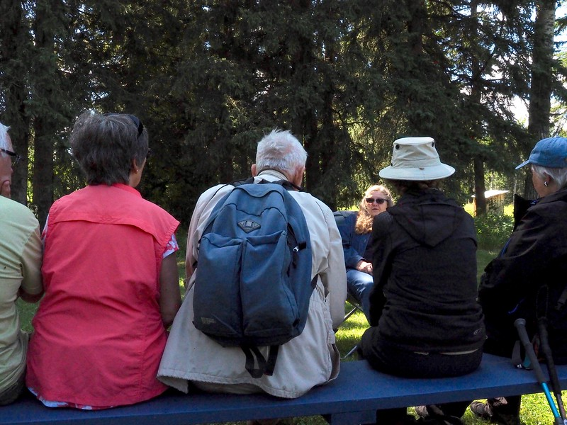 A history lesson is being given on early century farm life in and around the Bergen area.
