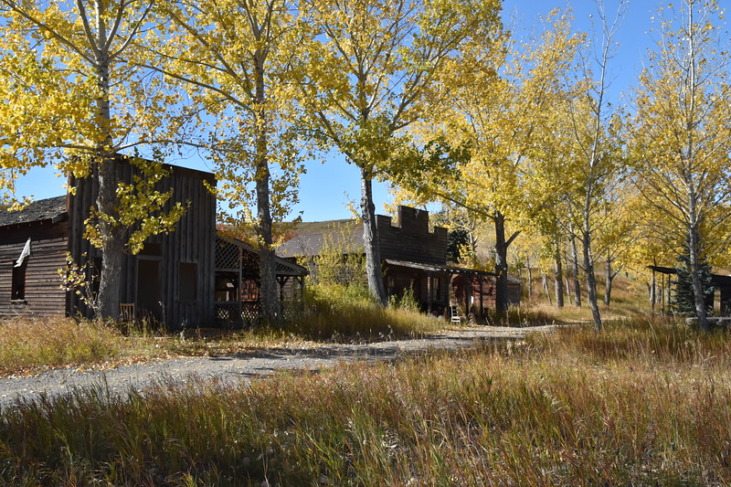 Photo taken this past September of the old buildings along the path.