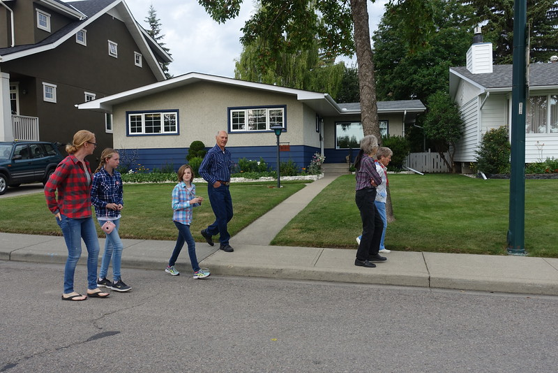 On the path towards Triwood Community's Stampede Breakfast.
