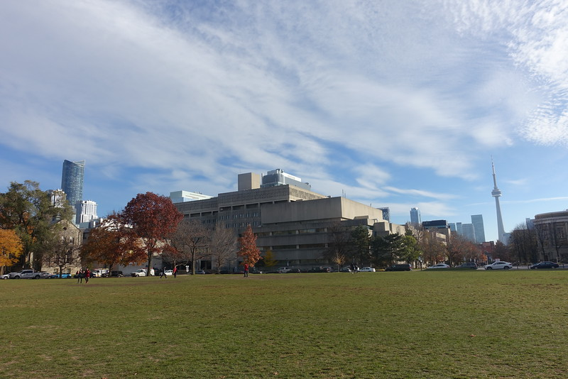 Looking back towards the Sciences building.
