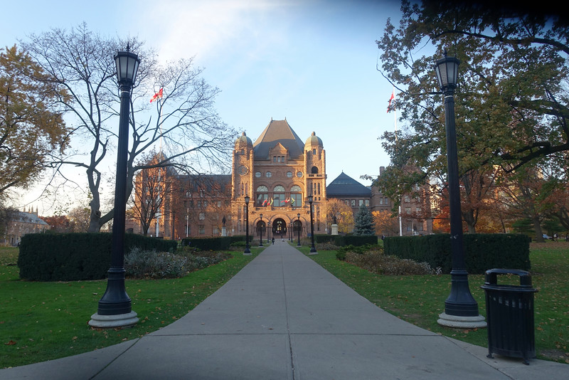 We're leaving the Legislative Building behind and making our way back to the Art Square Cafe for an exhibit opening.