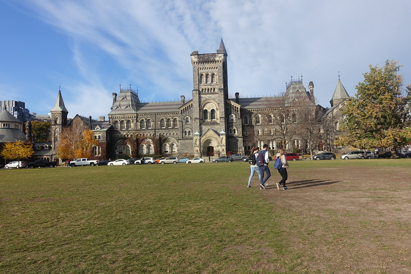 Facing in the opposite direction is University College.