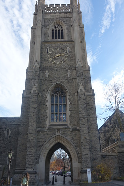 Around the corner from University College is The Solders' Tower.