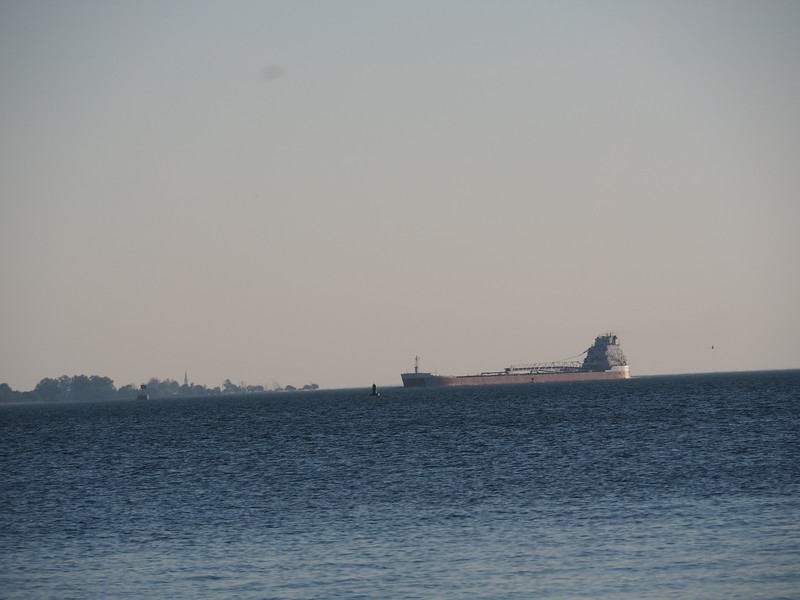 Freighter entering into Detroit Harbour from Lake Huron.