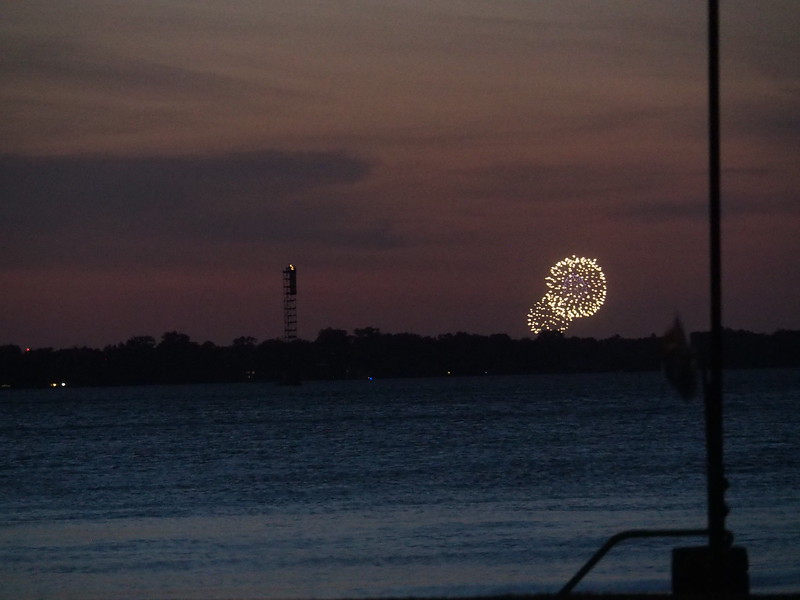 The day is done, and while flossing my teeth I'm enjoying some fireworks over in the US of Eh!.