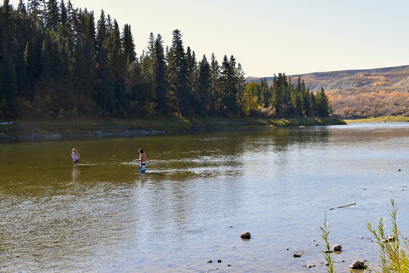 There are a number of shallow, slow-moving waters along this part of the river making it ripe for fly-fishing.