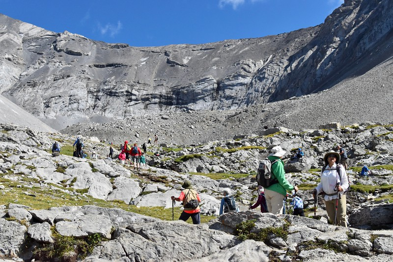 This has become a popular hike because with this Covid thing going on the city of Calgary and surrounding areas are getting out into the mountains more often.