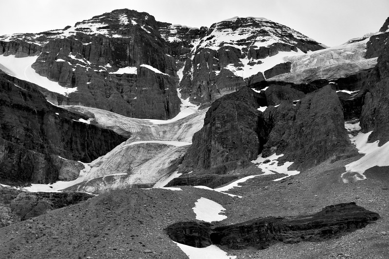 Viewing Stanley Glacier from my lunch seat, which is further away than it appears.  From here it is at least another 45 minutes of a slow uphill climb before reaching the tip.