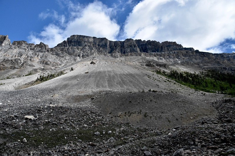 """""""Talus slopes are a type in which debris piles up to a characteristic angle of repose. When new debris is added to the slope, thereby locally increasing the angle, the slope adjusts by movement of the debris to reestablish the angle."""""""