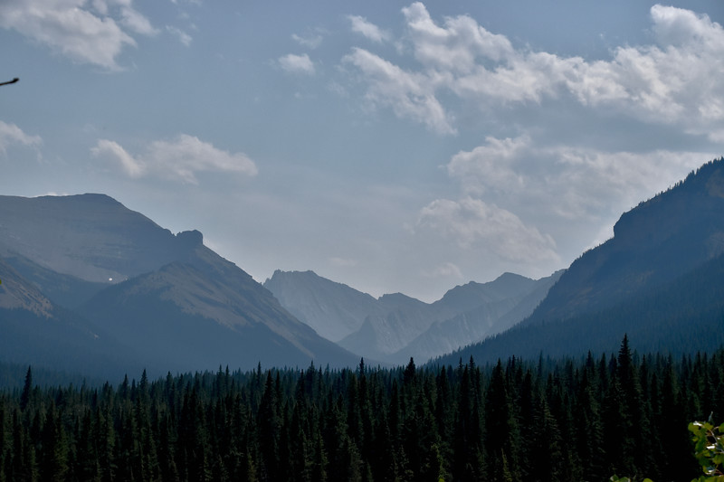 Still a smoky day in the mountains.