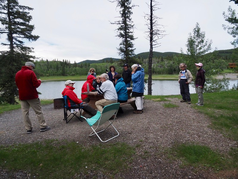 The weather is fairing much better at Sibbald Lake.  This is our annual picnic spot, about a half-hours drive from Jumpingpound.