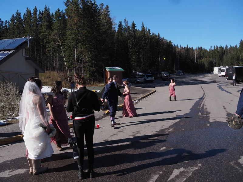 As we're heading back towards the car, I'm tempted to join a wedding party playing a game of pitch-and-catch.