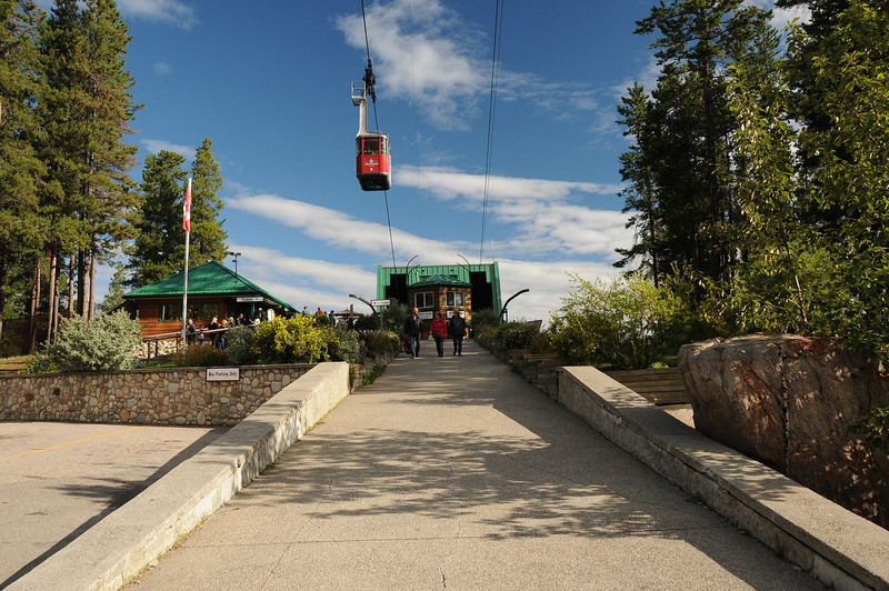 The Jasper Tramway is our transportation of choice to get to the top - well almost the top - of the Whistlers. Our ticket purchase will also include a breakfast.