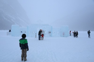 Each year the Ice Castle is always a huge attraction.  And another fun thing is that it is smack-dab in the middle of a skating ring--a huge skating rink.