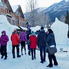 One block over from Banff Ave. is Bear Street, and the location of the snow sculptures.  Friday when we were here, the sculptors were busy at their craft.  Today they are gone and its browsing time for the public.