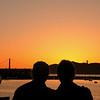 AUGUST--<br /> <br /> Sunset behind the Golden Gate Bridge