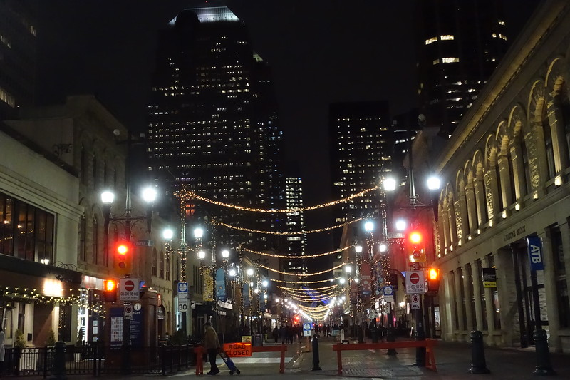 Looking west along  8th avenue which is now pedestrian friendly and closed to vehicle traffic.