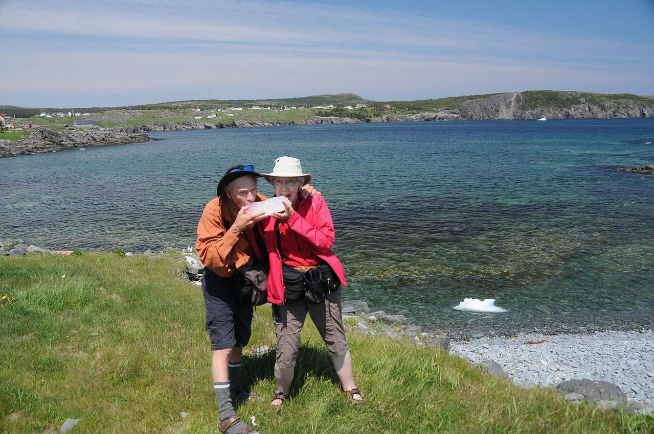 Not too often does one have an opportunity to take a lick, although during our Newfoundland stay we did sip on a berg or two.  They have no real flavour, not even a salty taste, just cool and refreshing.  Next up Sharon and I drive further along the coast of Elliston where we pay a visit to a puffin colony, and get an inside look into a root cellar.  Thanks for viewing.  randy
