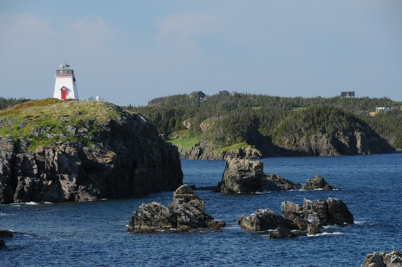 Fort Point lighthouse overlooking the entrance of Trinity Harbour.
