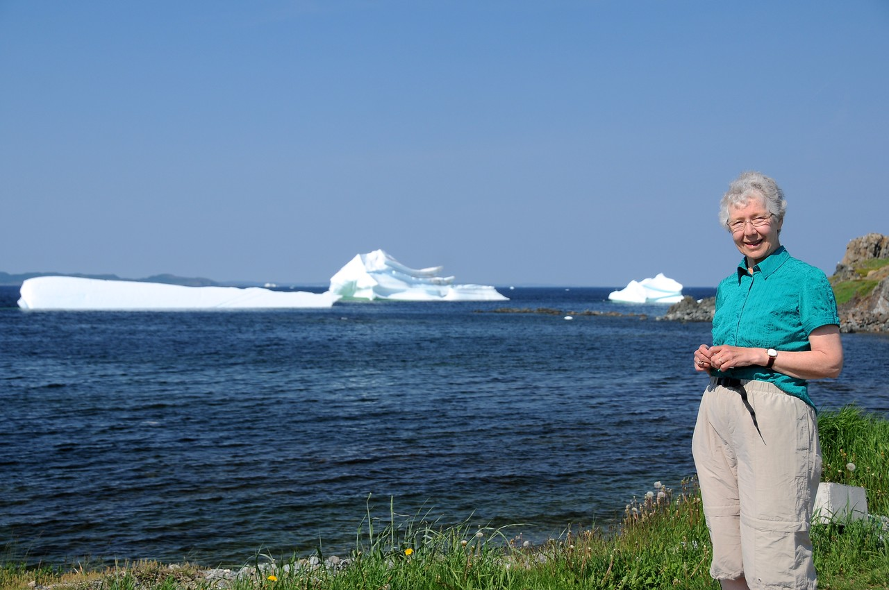 It's pretty close to nine-forty-five in the morning, and time enough for one more visit with bergs before we head out of Twillingate.