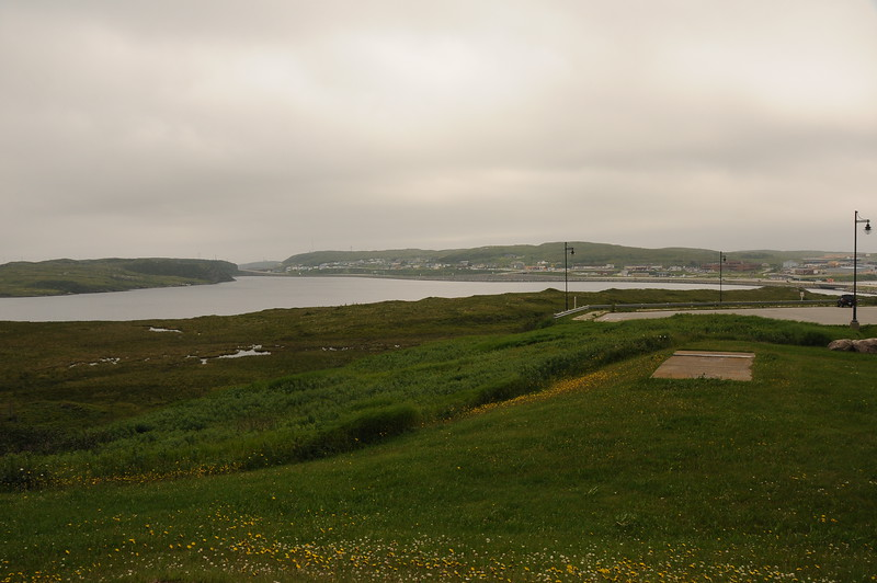 After a four hour drive from Deer Lake, we have pulled into the information centre with Port aux Basque in the distance.