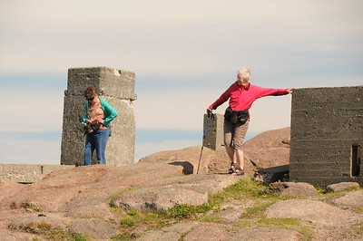 The bunkers (#2 on your map) were constructed during the Second World War to protect St. John's Harbour.
